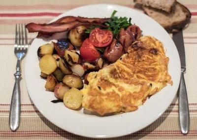 Hearty, traditional breakfast