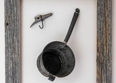 Sugaring tools on wall