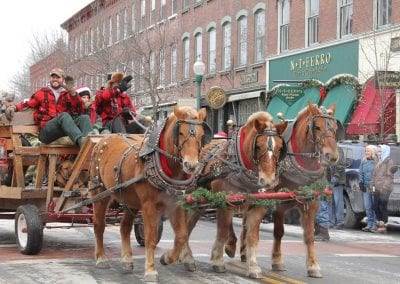 Horse drawn carriage during Wassail