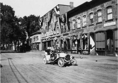 old car in street
