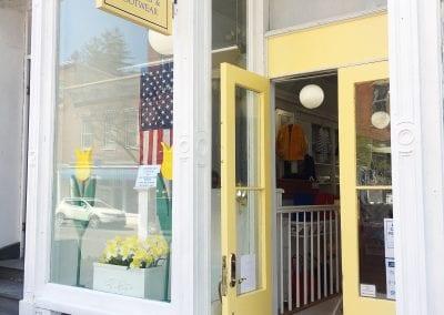 yellow shop window
